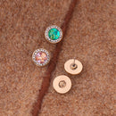 Cute Round Crystal Stud Earrings in 3 Colors - [neshe.in]