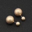 Matte Double Sided Ball Fashion Stud Earring - [neshe.in]
