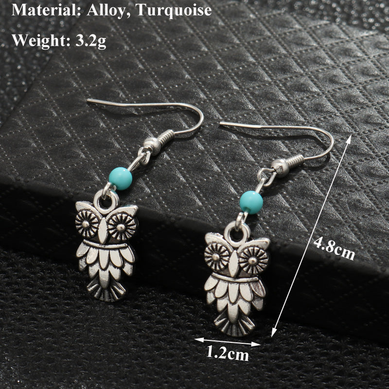 Small Cute Silver Drop Earrings in 6 Styles - [neshe.in]
