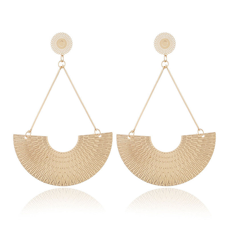 Geometric Fashion Shaped Hoop Dangler - [neshe.in]
