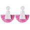 Acrylic Semi Circle Drop Earring - 4 Colors - [neshe.in]