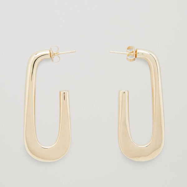 Arc Gold Earring Minimalist  Lead & Nickel free Earring - [neshe.in]