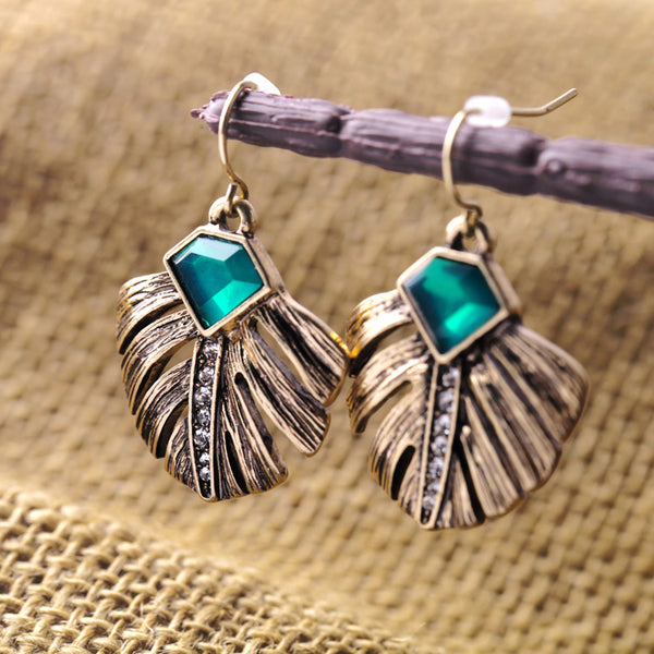 Antique Leaf Drop Earring Trendy Jewelry - [neshe.in]