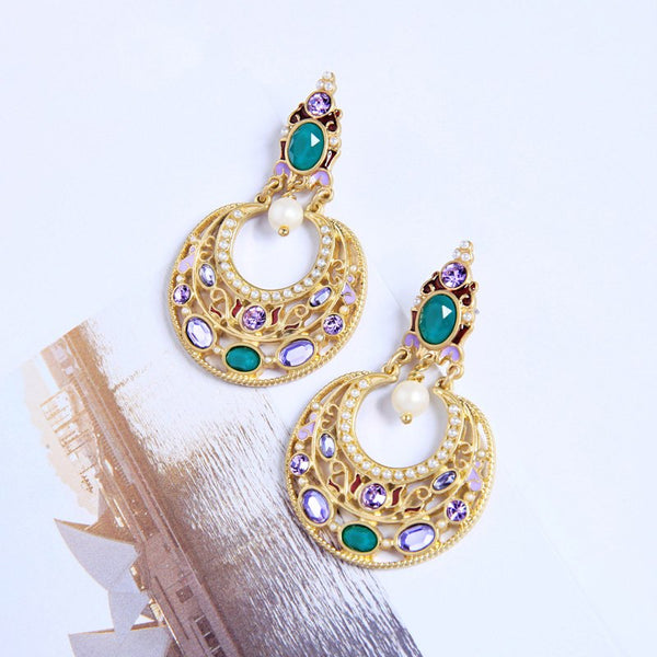 Ethnic Style Colorful Resin Wedding Earring - [neshe.in]
