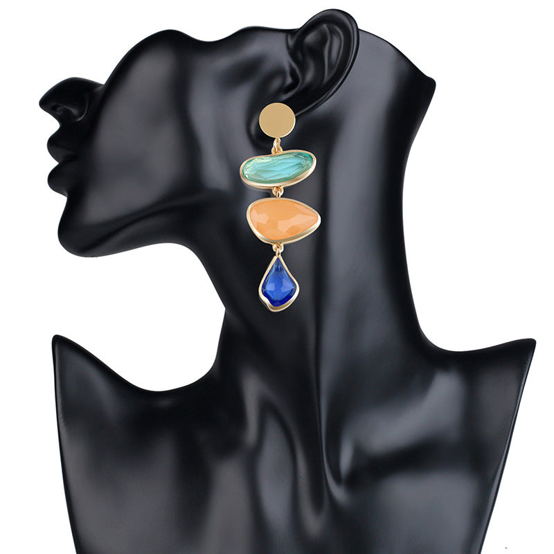 Acrylic Irregular Abstract Drop Earrings - 2 Colors - [neshe.in]