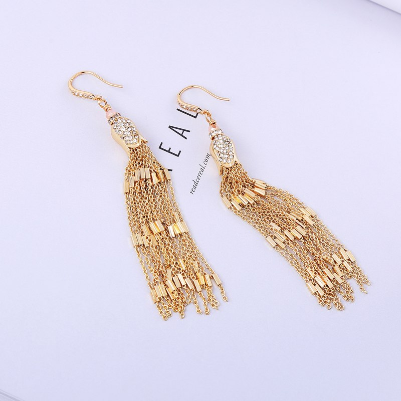 Tassel Luxury Crystal Statement with lotus flower - [neshe.in]