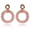 Small Crystal Beads Round Shape Handmade Vintage Dangle Earrings -2 Colors - [neshe.in]