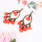 Boho Flower Beach Ethnic Tribal Festival Long Tassel Earrings - 3 Colors - [neshe.in]