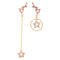 Mismatching Pink Star Earring Romantic Earring - [neshe.in]