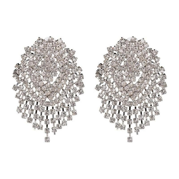Big statement Crystal Dangle Drop earring - 2 Metal - [neshe.in]