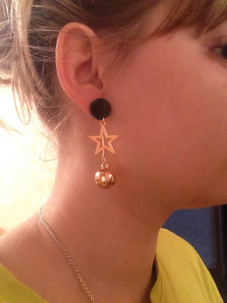 Geometric Asymmetrical Star Metal Tassel Drop Earrings - [neshe.in]