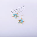 Resin Star Pentagram Dangle Earrings Cute Fashion - [neshe.in]