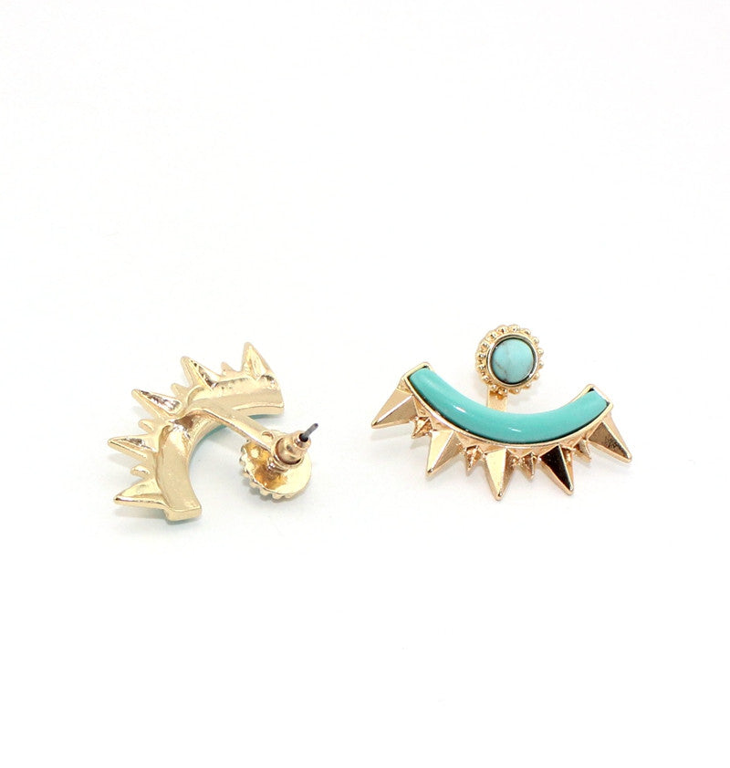 Exquisite Detachable Fanned Ear jacket Stud Earrings - [neshe.in]