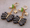 Pearl Butterfly Insect Black Vintage Earrings - [neshe.in]