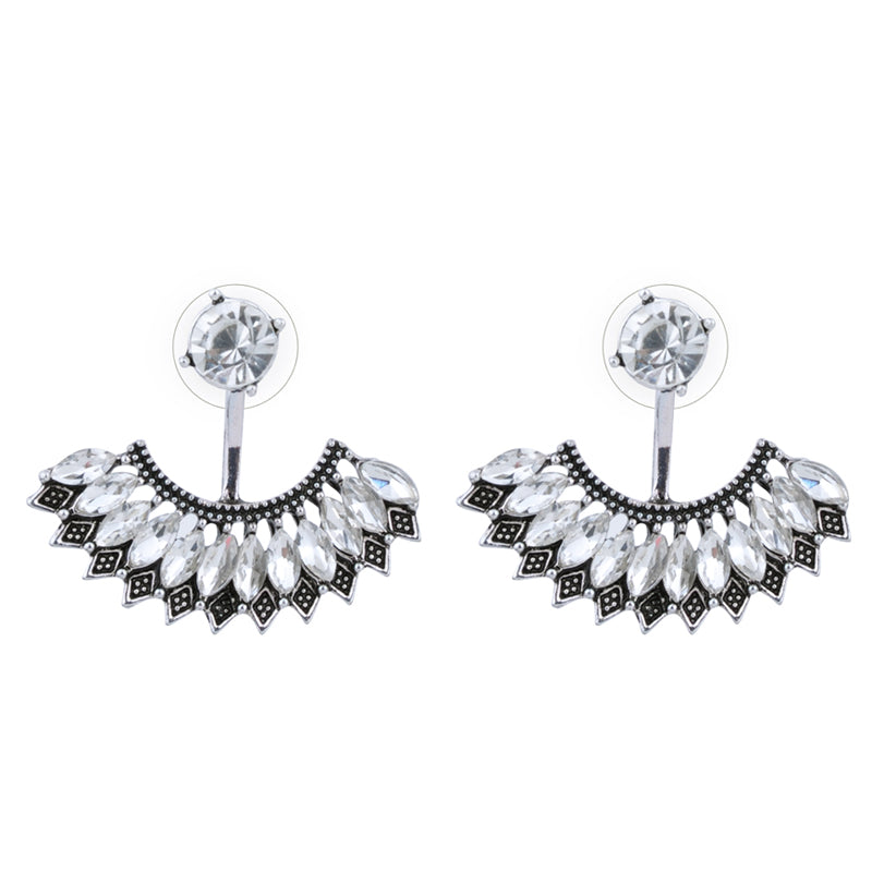 Crystal Charm Luxury Vintage Wedding Party Stud Earrings - [neshe.in]