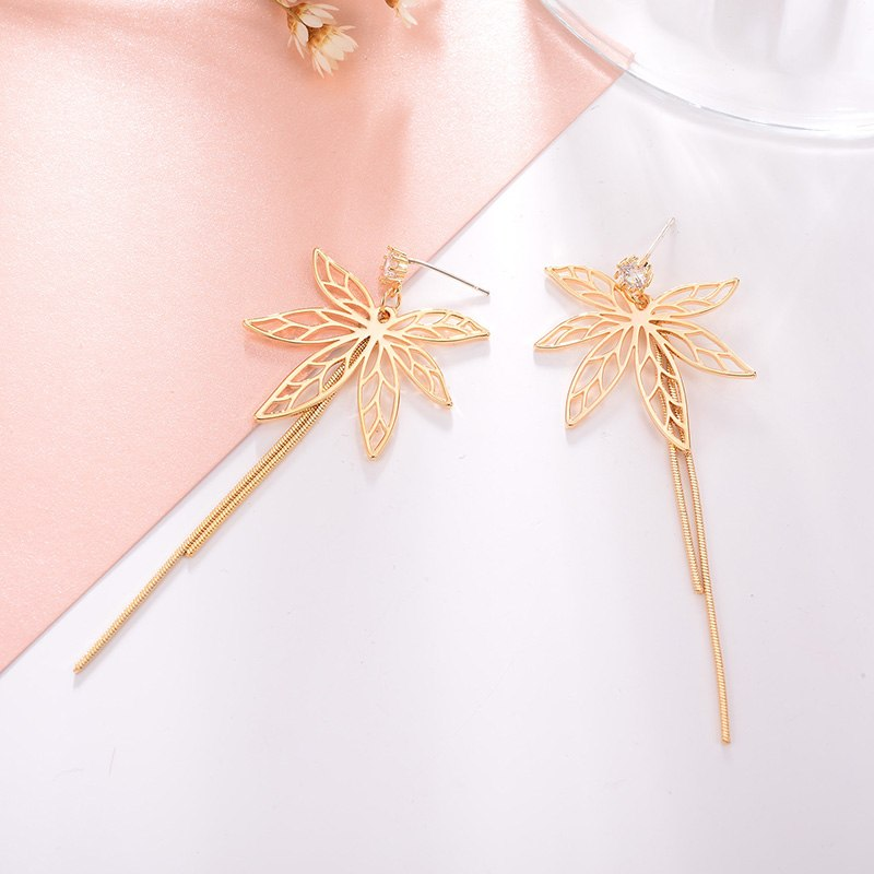Zircon Butterfly Long Drop Earrings For Party Crystal - [neshe.in]