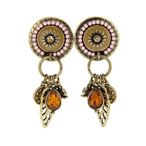 Colorful Ethnic Beads Charms Statement Earrings - 2 Colors - [neshe.in]