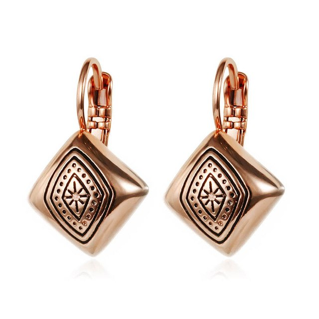 Vintage Exquisite Carved Square Shaped Ear Cuff Earings - 3 Colors - [neshe.in]