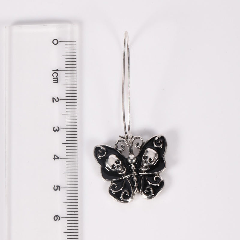 Hollow Black Butterfly Vintage Ethnic Fish Hook Earring - [neshe.in]