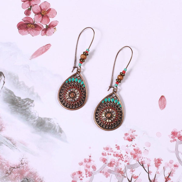 Fish Hook Shinning Beads Drop Earring - [neshe.in]