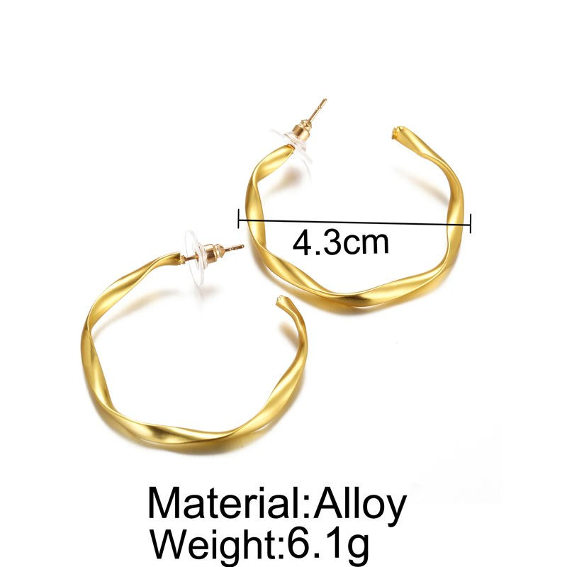 Irregular Golden Statement Hoop for party - [neshe.in]
