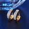 Stylish Golden CZ Zircon Hoop Earrings - [neshe.in]