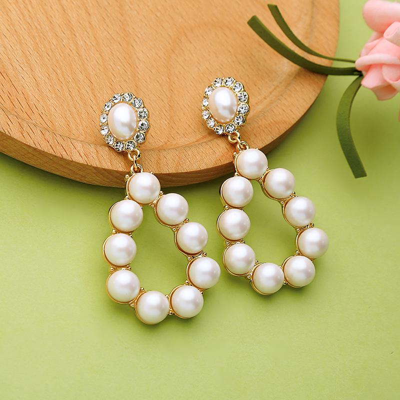 White Simulated Pearl Water Drop Beautiful Wedding Party Jewelry - [neshe.in]