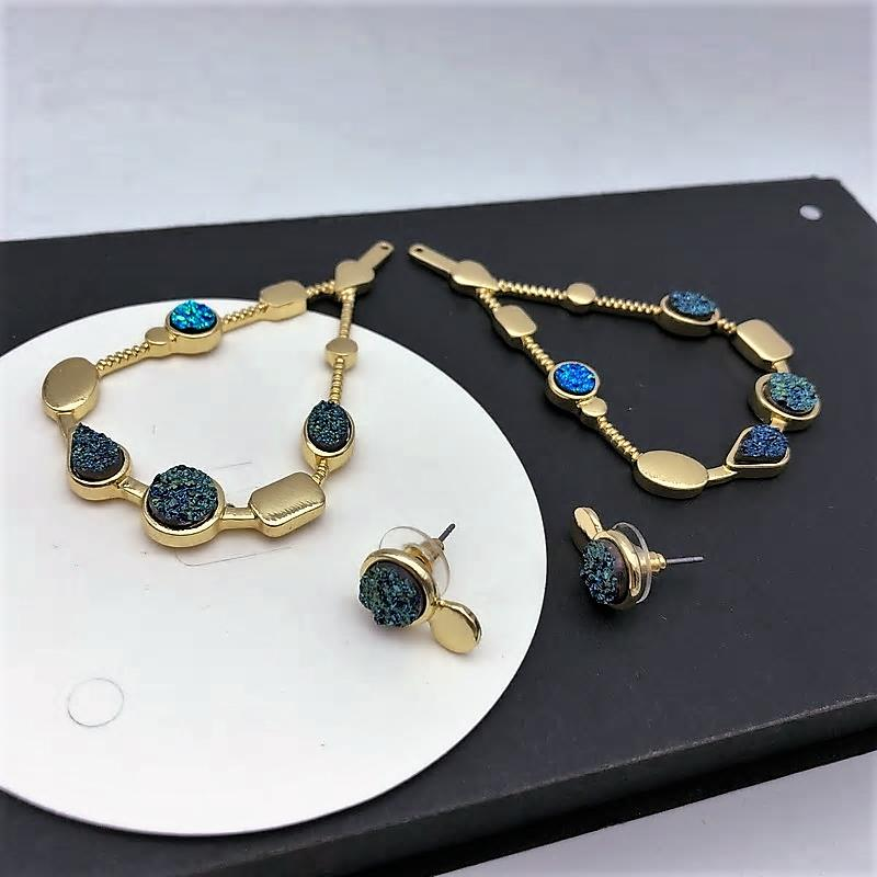 Vintage Water Drop Earrings in 2 ways - [neshe.in]