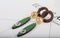 Ethnic Style Wood Tassel Circle Drop Earrings - 2 Colors (Green & Black) - [neshe.in]