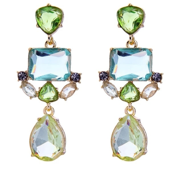 Classic Fashion Exquisite Water Drop Crystal Earrings - [neshe.in]