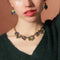 Antique Geometric Pendant Statement Necklace - [neshe.in]