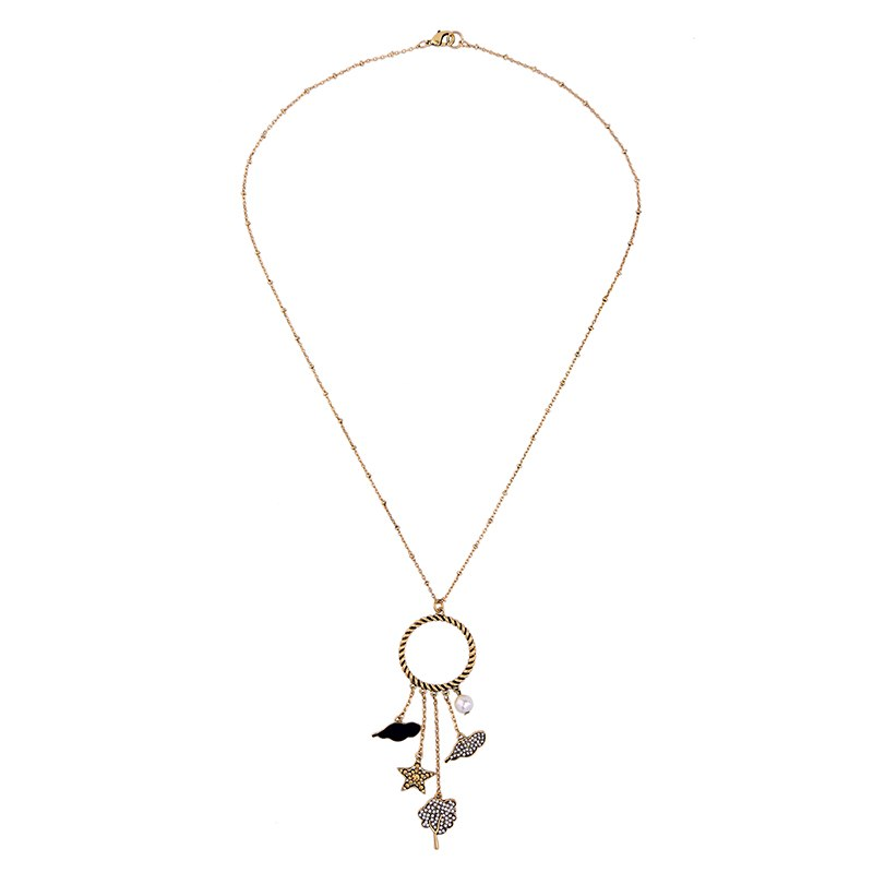 Star Cloud Rhinestone Long PendantDangling  Necklace - [neshe.in]