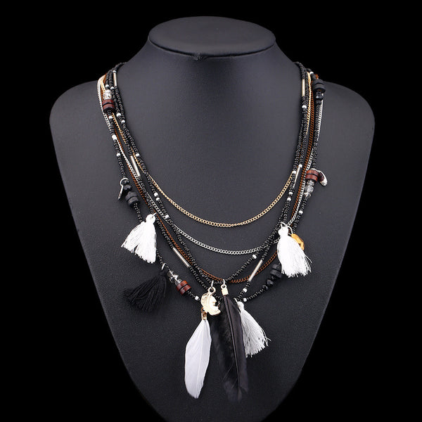 Bohemian Multilayer Maxi Choker Necklace - 2 Colors - [neshe.in]