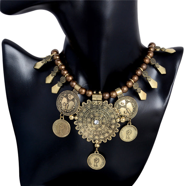 Bohemia Stylish Fashion Antique Coins Necklace - 2 Colors - [neshe.in]