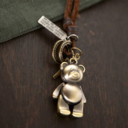 Bear Pendant chokers necklace for Valentine Day - [neshe.in]