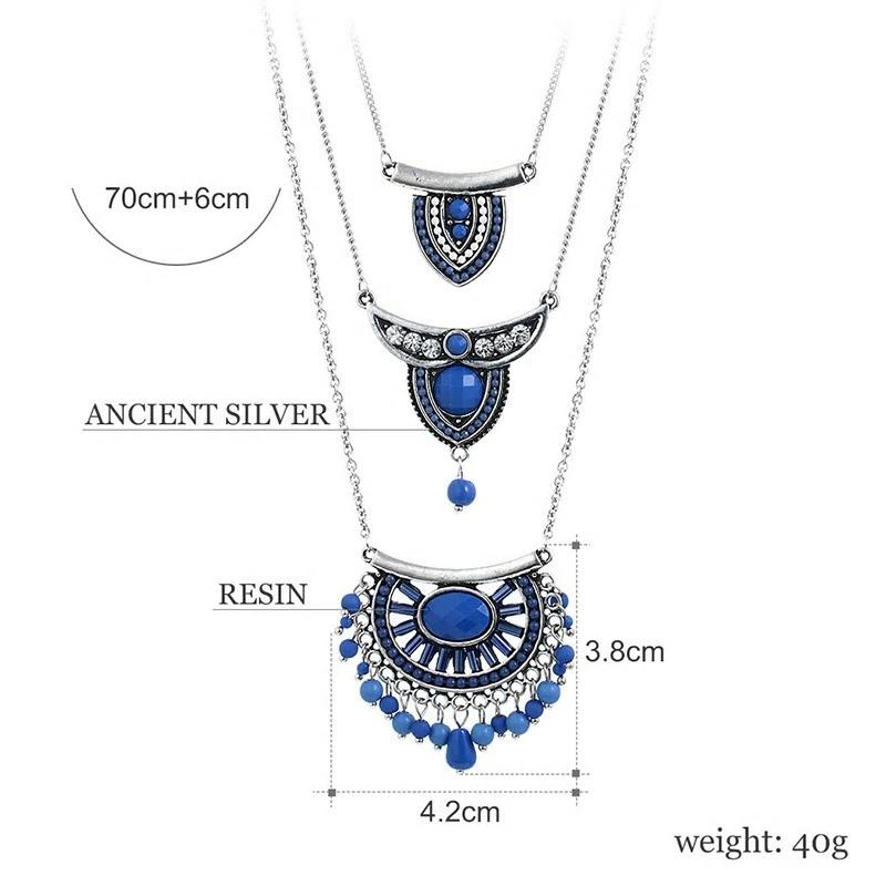Bohemian Beads Multilayer Pendant Necklace - 3 Colors - [neshe.in]