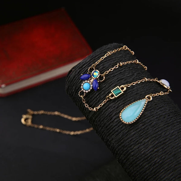 Long Chic Geometric Pendants Chain Necklace - [neshe.in]