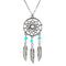 Bohemian Silver Chain Dream Catcher Pendant Necklace - [neshe.in]