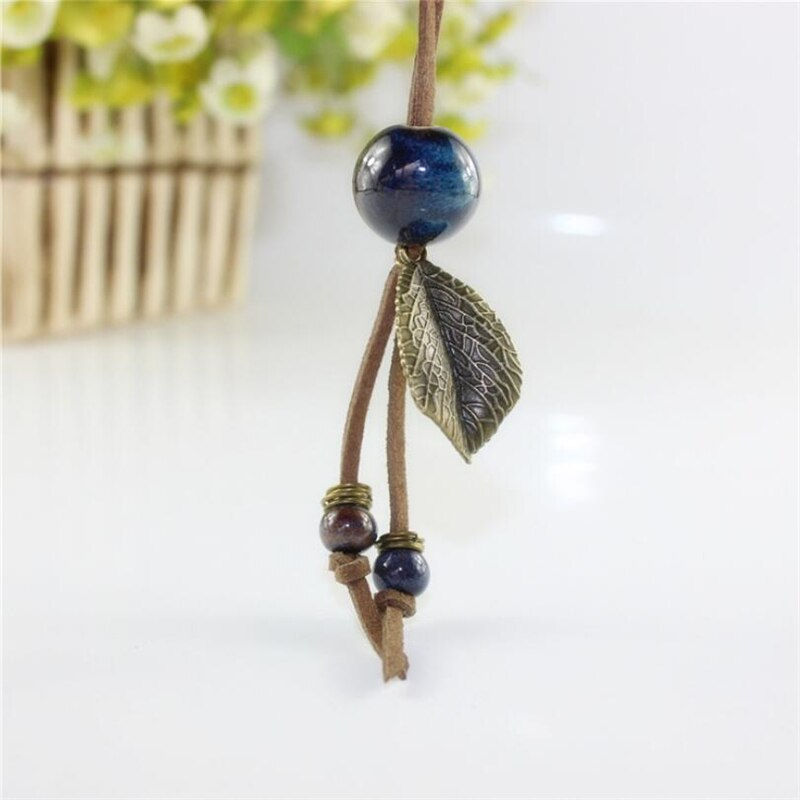 Bohemian Ball Ceramic Long Pendant Necklace -3 Colors - [neshe.in]