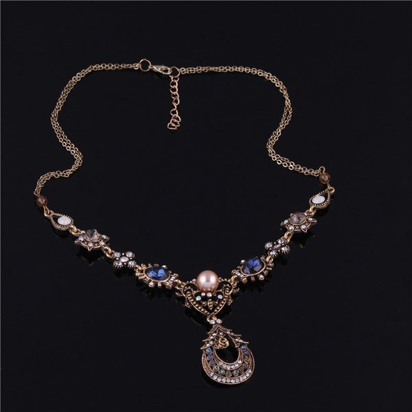 Bohemia Vintage Shiny Crystal Choker Necklace - [neshe.in]