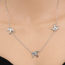 Silver Birds Chain Choker Necklace - [neshe.in]