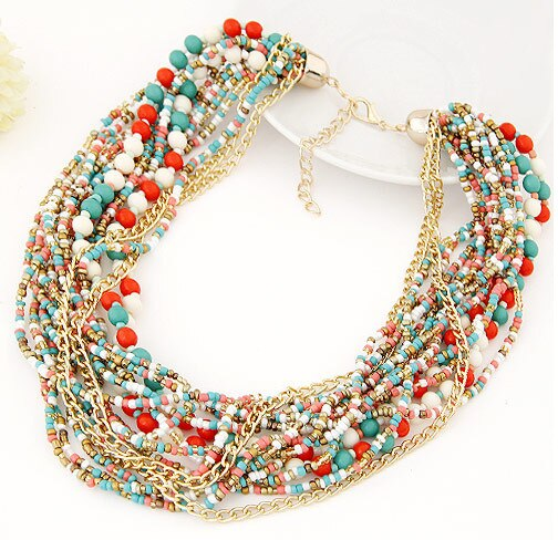 Bohemian Multilayer Beads Vintage Retro Tribal Necklace - [neshe.in]