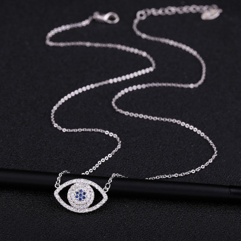 CZ Luxury Evil Eye Crystal Choker  Pendant - 2