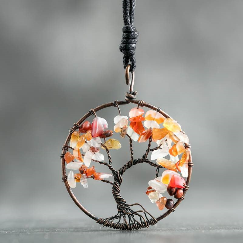 Handmade Tree of Life Leather Necklace -V day