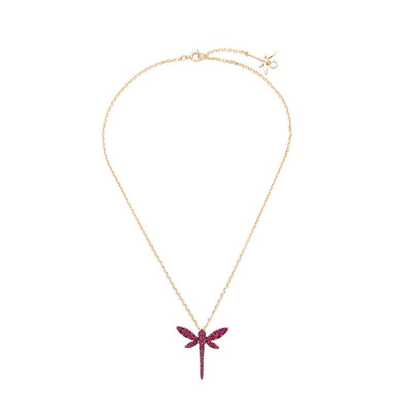Cute Crystal Dragon Fly Insect Chain