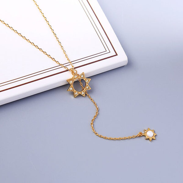Luxury Sun Pendant Long Layer Chain Necklace