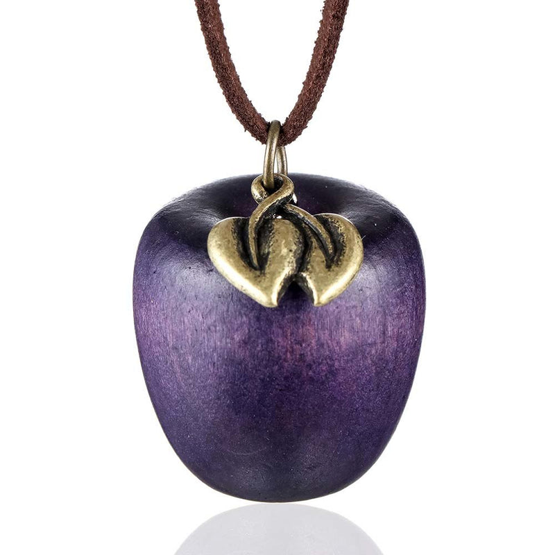 Stylish Wooden Apple Pendant Fashion Vintage Long Rope Necklace - 4 Colors - [neshe.in]