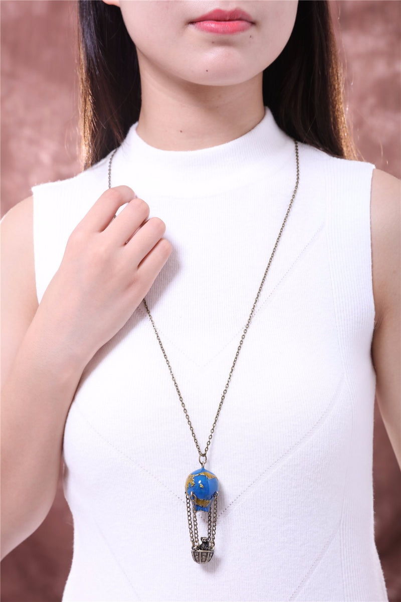 Balloon Pendant statement Long necklace - NN - [neshe.in]