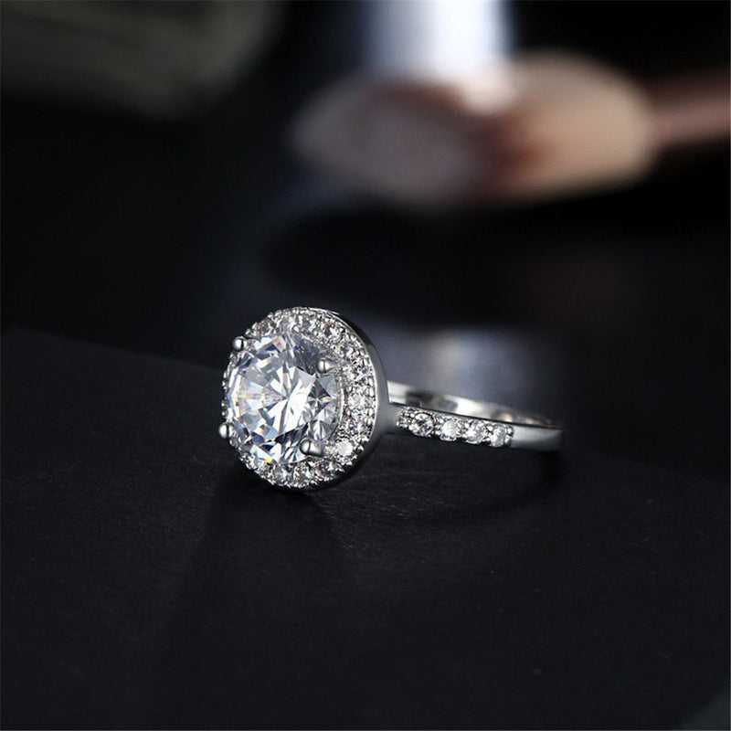 Cubic Zirconia CZ Crystal Party Ring - [neshe.in]