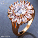 AAA CZ Round Flower Ring - 2 Colors ( Size 6&7)